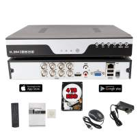 EVERTECH 8CH 1080N HD Hybrid DVR 4-in-1 (Analog/AHD/TVI/CVI) Security Digital Video Recorder for Surveillance System with 4TB HDD Installed and Pre-Configured