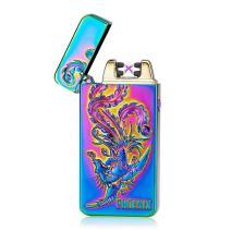 Kivors USB Rechargeable Flameless Electronic Plasma Dual Pulse Arc Lighter