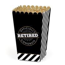 Happy Retirement - Retirement Party Favor Popcorn Treat Boxes - Set of 12