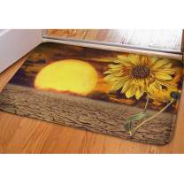 Sunflower Doormat Welcome Mat Non Slip Flannel Living Room Carpets Small Area Rug Kitchen Mats