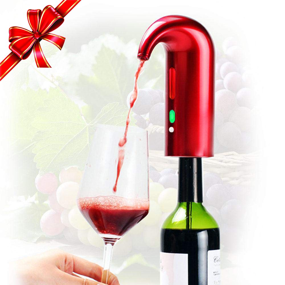 Black1 Decants Black and Dispense Instant Wine Spout Fit Most Bottles Wine Aerator Electric Wine Decanter Portable Wine Dispenser Rechargeable and Automatic Wine Pourer One Touch Oxidizes