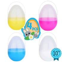Totem World 4 Jumbo 10-Inch Easter Egg with Handle - The Perfect Size For Holding Toys, Candy Bars, And Stuffed Animals - Easy To Open, Tough To Break - Great As Party Favors And Easter Basket Stuffer