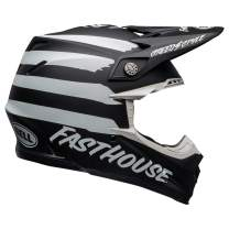 Bell Moto-9 MIPS Off-Road Motorcycle Helmet (Fasthouse Signia Matte Black/White, Large)