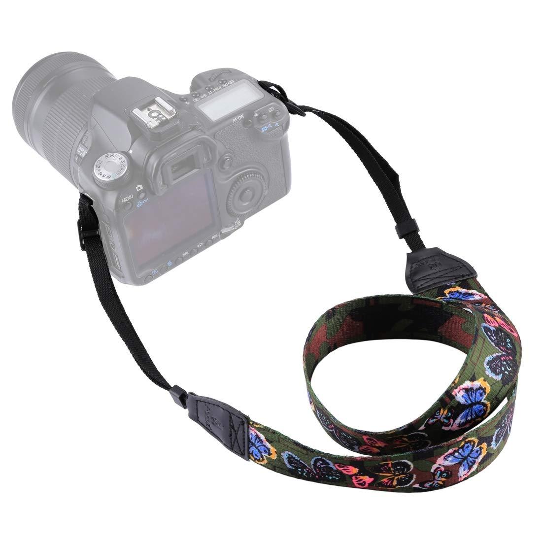 PULUZ Camera Neck & Shoulder Strap Belt for SLR/DSLR Cameras, Universal DSLR Strap Retro Ethnic Style Multi-Color Series Shoulder Neck Strap Camera Strap (Style 1)