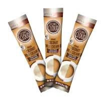 Coconut Cloud: Salted Caramel Coffee Creamer   Made in USA. Healthy Vegan Alternative, Low Sugar, Coconut Powder Milk + MCT Oil for energy (Keto Friendly, Gluten, & Soy Free, Plant Based), 20 Sticks
