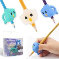 Pencil Grips, Firesara Original Owl Pencil Grips for Kids Handwriting Ergonomic 3 Fingers Sets Aid for Trainer Handwriting Posture Correction, Assorted Pencil Grip for Righties and Lefties (3Pcs)