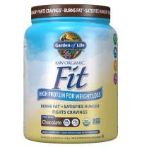 Garden of Life Raw Organic Fit Powder, Chocolate - High Protein for Weight Loss (28g) plus Fiber Probiotics & Svetol, Organic & Non-GMO Vegan Nutritional Shake, 10 Servings