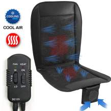 Big Ant Cooling Seat Cushion with Heated, Car Seat Cushion Cooling Pad, Air Conditioned Seat Cover with Car Fan for Car Truck Home and Office (Black - 1PC)