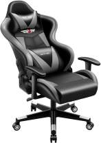 Gaming Chair PatioMage Office Chair Racing Office Chair Desk Chair Headrest Lumbar Support Comfortable Computer Game Chair PU Leather Ergonomic Reclining PC Gaming Chairs