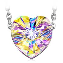 J.NINA ✦Aurora✦ Jewelry Gifts for Mom Colorful Heart Pendents Necklace for Women with Brilliant Cut 2020 Collection Passed SGS Test Stunning Gifts for Her
