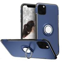 SQMCase Case for iPhone 11 Pro Max 6.5 inch 2019, Full BodyProtection Anti-Slip with 360 Degree Rotation Ring Kickstand [Work with Magnetic Car Mount] for iPhone 11 Pro Max,Blue
