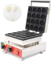 CGOLDENWALL NP-690 16pcs Mini Waffle Maker Round Waffle Stove Waffle Making Machine Non-stick Waffle Iron Baker (110V)
