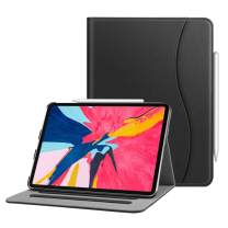 """Fintie Case for iPad Pro 11"""" 2018 [Supports 2nd Gen Pencil Charging Mode] - Multi Angle Viewing Folio Cover with Pocket [Secure Pencil Holder] Auto Sleep/Wake for iPad Pro 11 2018, Black"""