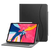 "Fintie Case for iPad Pro 11"" 2018 [Supports 2nd Gen Pencil Charging Mode] - Multi Angle Viewing Folio Cover with Pocket [Secure Pencil Holder] Auto Sleep/Wake for iPad Pro 11 2018, Black"