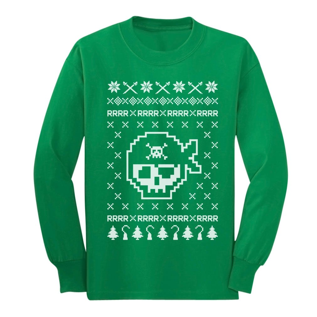 Pirates Ugly Christmas Sweater - Cool Xmas Unisex Long Sleeve Kids T-Shirt