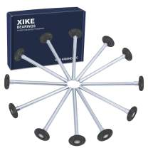 """XiKe 12 Pack 2"""" in Nylon Garage Door Roller Use 6200ZZ Shield Bearing, Rotate Quiet and Durable, 4"""" in Stem and Reuse More Than 100,000 Cycles - Black."""
