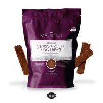 Maui Nui Venison Dog Treats 16 oz, Made in The USA - Real Venison Meat - Sustainably Sourced Wild Harvested Axis Deer Jerky