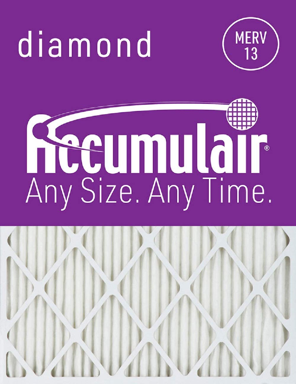 Accumulair Diamond 18.25x22x1 (Actual Size) MERV 13 Air Filter/Furnace Filters (6 pack)