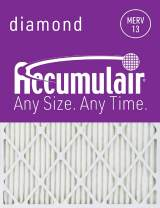 Accumulair Diamond 8x24x1 (Actual Size) MERV 13 Air Filter/Furnace Filters (6 pack)