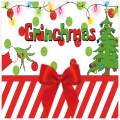 Allenjoy 8x8ft Merry Grinchmas Party Banners Backdrop Christmas Supplies Winter New Year Santa Background Baby Shower Children First Birthday Decorations Studio Photography Props Photo Booth Favors
