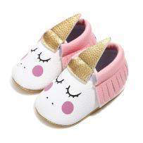 Bebila Cute Baby Moccasins for Girls - Anti-Slip Soft Soled Flats Newborn Princess Dress Shoes