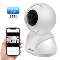 Security Camera, Wireless WiFi Home Indoor Camera zhiroad 1080P HD 355° Nanny Camera Pan/Tilt/Zoom with Night Vision, Remote Motion Detection with Cloud Storage 2-Way Audio for Baby/Elder/Pet
