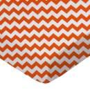 SheetWorld Fitted Sheet (Fits BabyBjorn Travel Crib Light) - Orange Chevron Zigzag - Made In USA