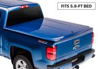 "Undercover Lux One-Piece Truck Bed Tonneau Cover | UC1116L-G1K | Fits 15-20 Chevrolet Silverado 1500 G1K(WA409Y) - Deep Ocean Blue 5'8"" Bed"