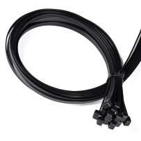 Zip Ties Heavy Duty 30 PCS 35 inch Large Zipties Insdustrial Cable Ties Wire Tires with 250 lbs Tensile Strength Nylon Zip Ties Black Not Easy to Break for Indoor and Outdoor.