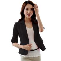 ETOSELL Women's Casual Slim Solid Suit One Button Blazer Jacket Coat Outwear
