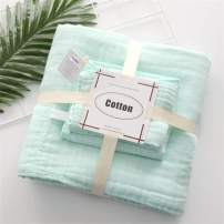 Baby Bath Towels and Washcloths Set Also for Baby Swaddle Blanket and Baby Muslin Face Cloth, Super Soft Muslin Cotton - Ideal for Baby Care Gift Sets by MUKIN((3 PC Value Pack) Green
