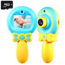 VATENIC Kids Digital Camera 2 Inch 8MP HD Magic Wand Creative Kids Camera for Kids Shockproof Handheld Children Selfie Toy Camera Best Gifts for 3-10 Years Old Kids (16GB SD Card Included) (Blue)