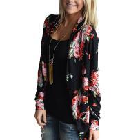 EverChic Women's Casual Pocket Beach Long Dress Short Sleeve Split Loose Maxi Dress (Black 3A#, XL)