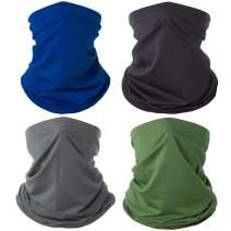 2 Pack Neck Gaiter Face Cover Mask, Sun UV Reusable Face Scarf Breathable Bandana for Men and Women