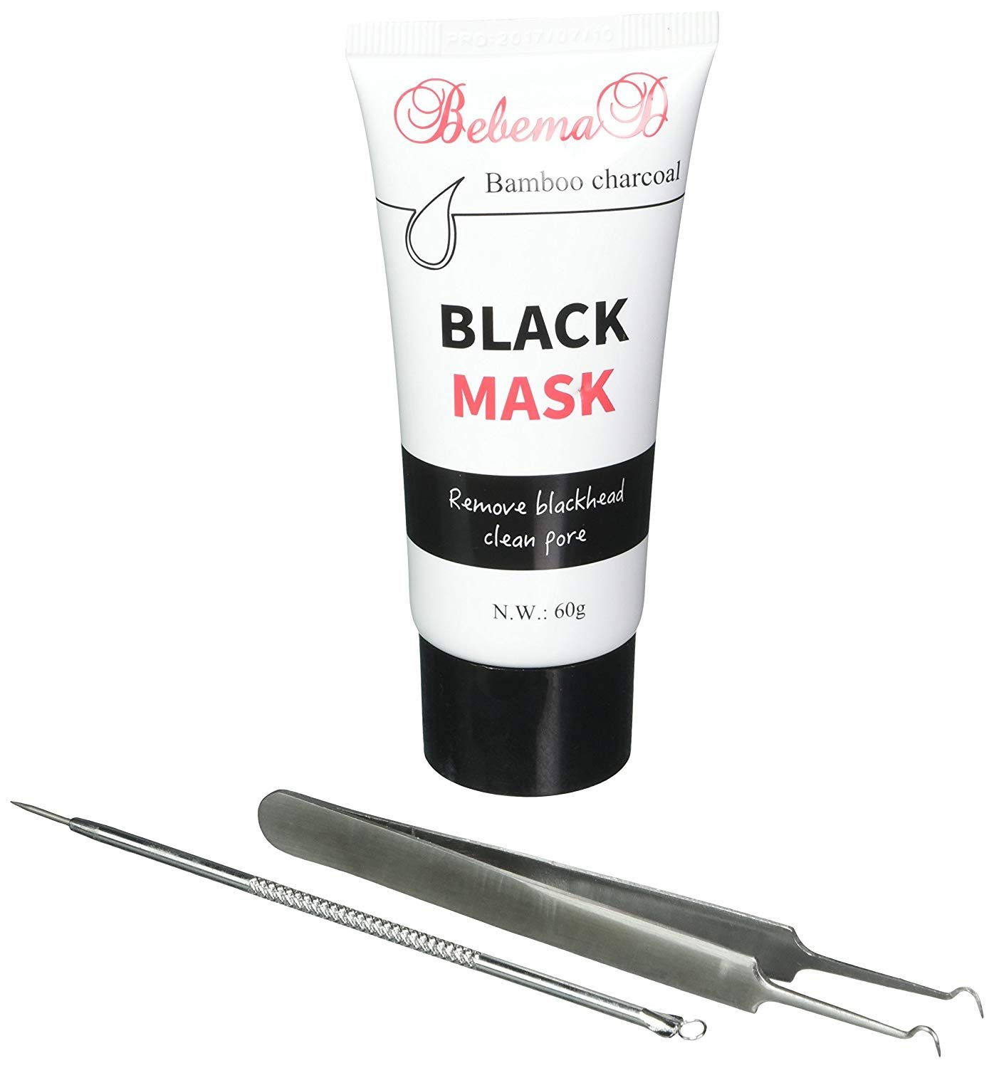 Blackhead Remover Mask by Bebemad - Purifying Peel Off Mask Activated Charcoal for Face and Nose Professional Deep Pore Cleansing Mask Suction Black Mud Mask 60g