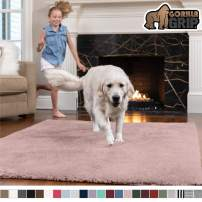 GORILLA GRIP Original Faux-Chinchilla Area Rug, 2x4 Feet, Super Soft and Cozy High Pile Washable Carpet, Modern Rugs for Floor, Luxury Shag Carpets for Home, Nursery, Bed and Living Room, Dusty Rose