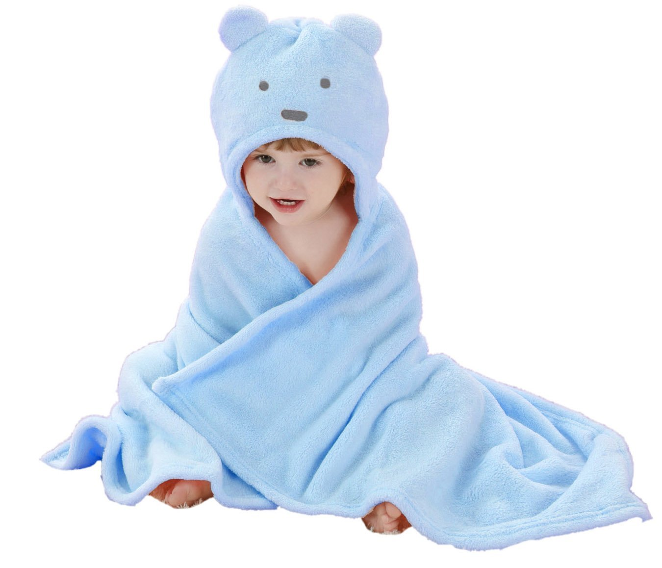 Extra Soft Animal Face Hooded Baby Towel for Infant Toddler Newborn and Kids at Bath Pool and Beach