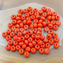 AD Beads Wood Spacer Loose Wooden Craft Beads Big Hole Beads Assorted for Necklace Bracelet Craft Making Decoration (4x6mm 400 Pieces, Orange)