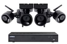 Lorex 1080p Weatherproof Indoor/Outdoor Home Surveillance Security System, 4 Rechargeable Wire-Free Battery Powered Black Cameras w/Long Range Color Night Vision (4 Pack) - Includes 1TB Hard Drive