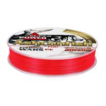 Ashconfish Braided Fishing Line – Real Color Fastness – 4 & 8 Braids/Strands - from 6lb 8lb to 300lb - Abrasion Resistant Braided Lines - Zero Stretch- Smaller Diameter -Red