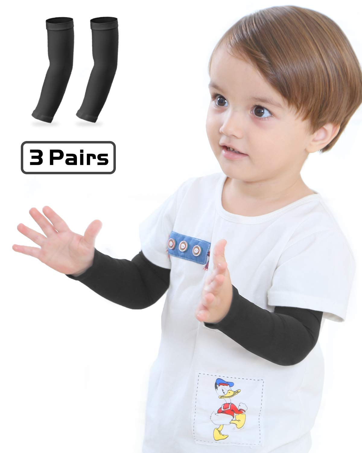Arm Sleeves for Kids, Toddlers, UPF 50 UV Sun Protection Sleeves to Cover Arms