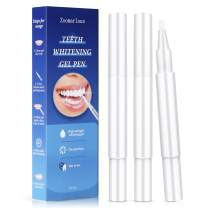 Zoomarlous Teeth Whitening Pen 3 Pens- 30+ Uses, 35% Carbamide Peroxide, No Sensitivity, Professional Sensitive Teeth Whitener Remove Coffee and Tea Stains, Effective&Painless, Beautiful White Smile