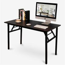 DlandHome 47 inches Folding Table Computer Desk Portable Table Activity Table Conference Table Home Office Desk, Fully Assembled Black DND-ND5-120BB