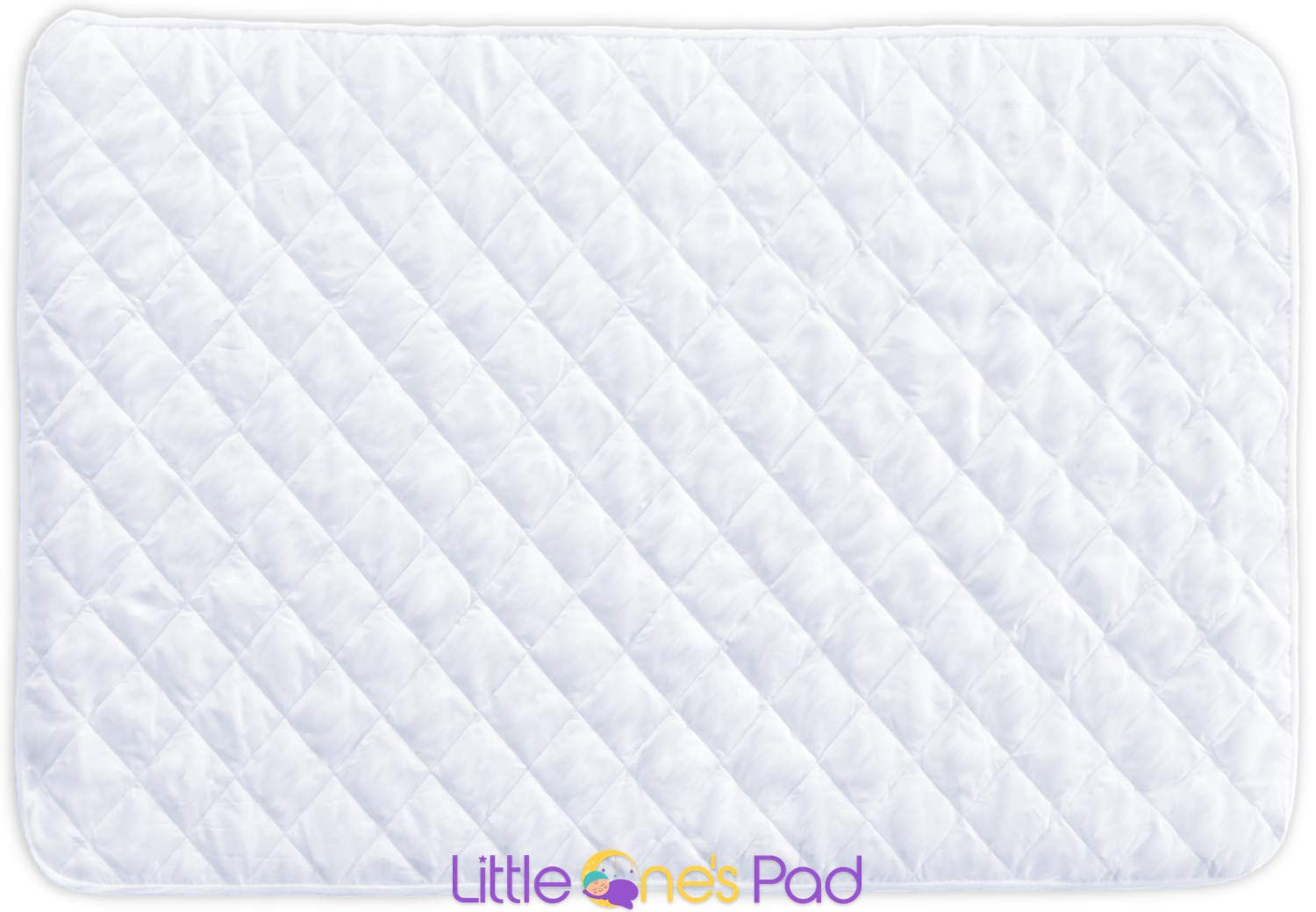 """Little One's Pad Pack N Play Crib Mattress Cover - 27"""" X 39"""" - Fits Most Baby Portable Cribs, Play Yards and Foldable Mattresses - Waterproof, Dryer Safe - Comfy and Soft Fitted Crib Protector"""