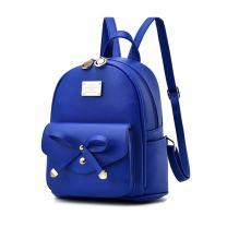 Mikty Women Teen Girls Bowknot Cute Mini Leather Backpack Schoolbag Daypack Fashion Small Backpacks Purses for Teen Women