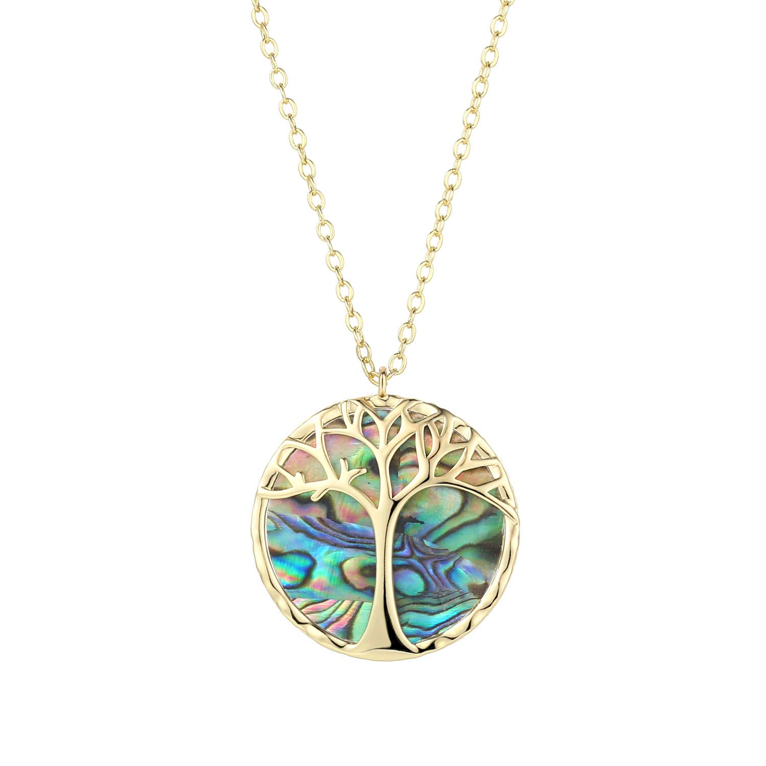 3Pcs Gold Plated Pave Rainbow Cubic Zirconia And Shell Round Pendant Women/'s Fashion Jewelry necklaces