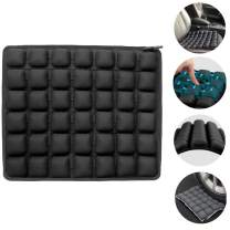Haerniubi Seat Cushion Air/Water Inflatable Chair Pad for Wheelchair, Office Chair, Cars, Home Living, Pressure Relief Pillow, Adjustable Volume & Softness Non-Slip Hip Protector (Black)