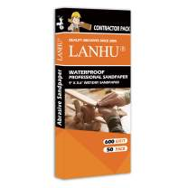 LANHU 600 Grit Sandpaper for Wood Furniture Finishing, Metal Sanding and Automotive Polishing, Dry or Wet Sanding, Multipurpose Sandpaper, 9 x 3.6 Inches, 50-Sheets