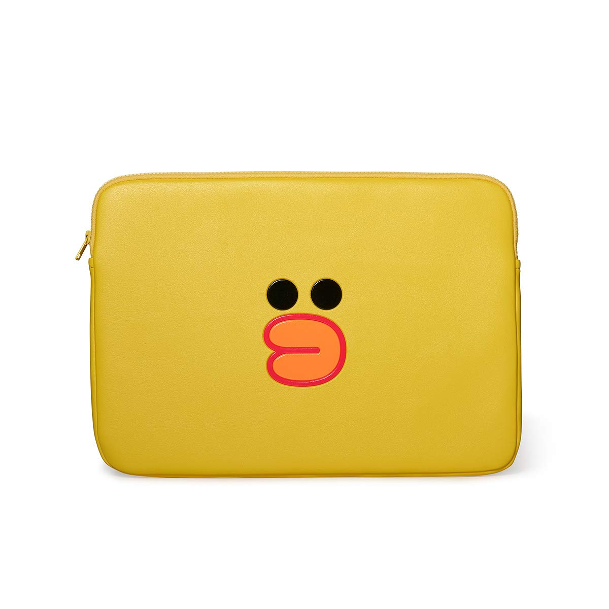 LINE FRIENDS Faux Leather Laptop Sleeve - Sally Character Case Cover 15 Inches, Yellow