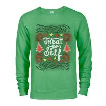Parks and Recreation Treat Yo Self Ugly Christmas Lightweight Crew Neck Sweatshirt